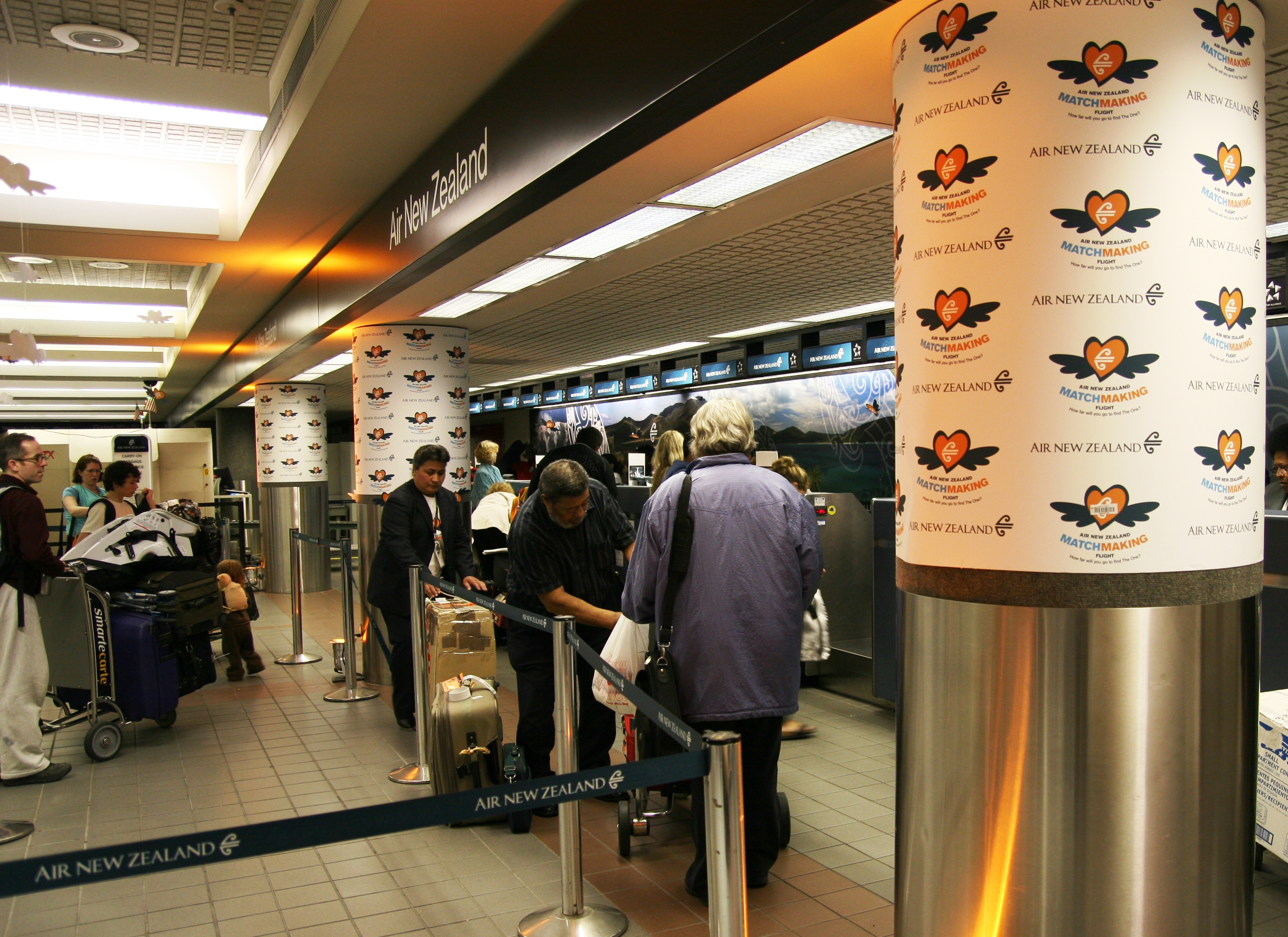 Air New Zealand Ticket Counter LAX