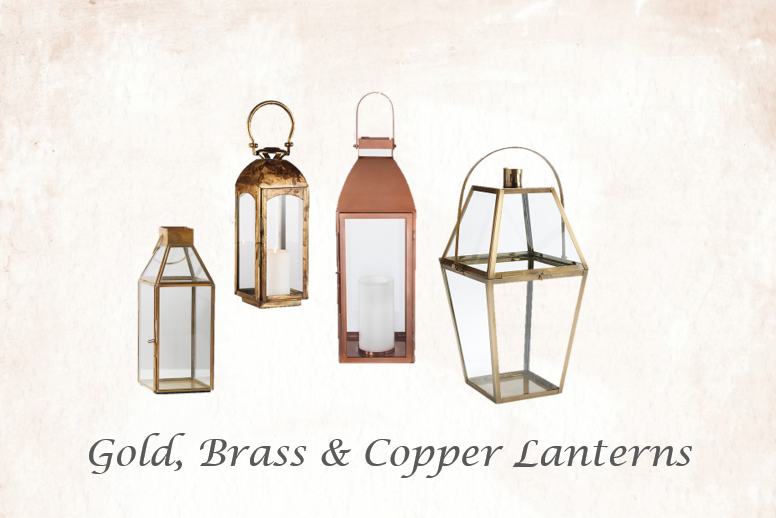 Gold, Brass & Copper Lanterns