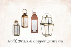 Gold, Brass & Copper Lanterns