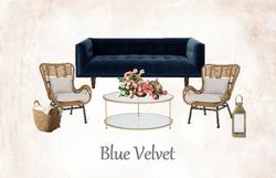 Blue Velvet Lounge Set