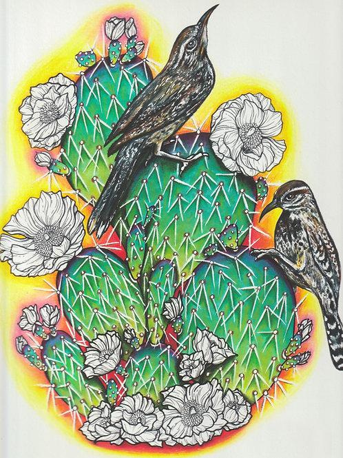 Cactus Wren Print by Mackenzie