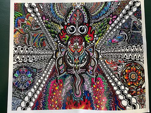 Trippy Print by Mackenzie