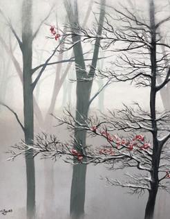 Misty landscape - Sold