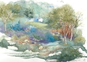 Pen and wash landscape