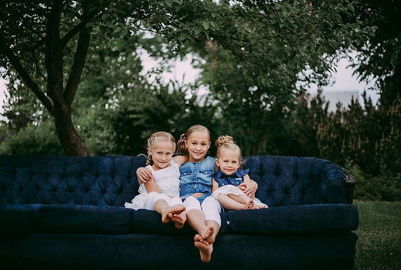 Vintage Navy Couch