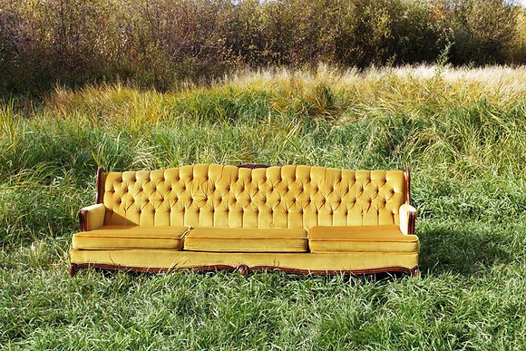 Vintage Gold Couch