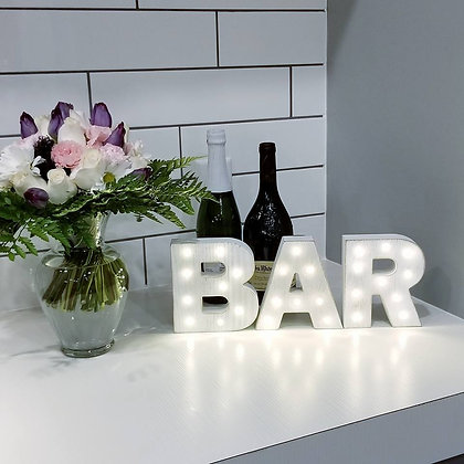 Light Up BAR Letters