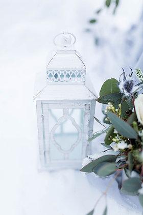 Elegant White Lattern