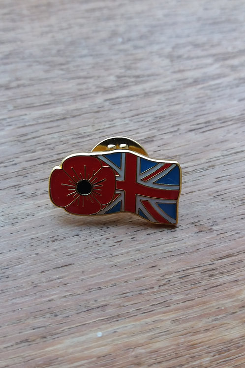 Union flag poppy Badge's