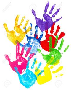 5281493-collection-de-la-main-d-enfants-color-s-imprim-s-sur-fond-blanc-Banque-dimages