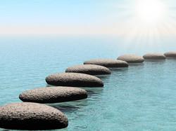 501321-float-stones-with-sun-beam