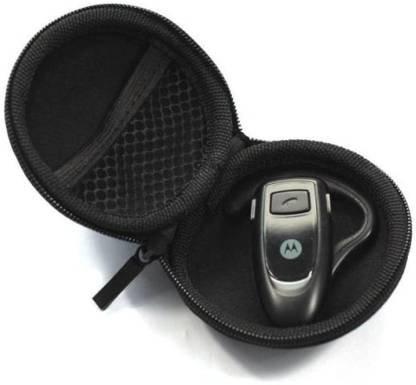 Leather Zipper Headphone Pouch