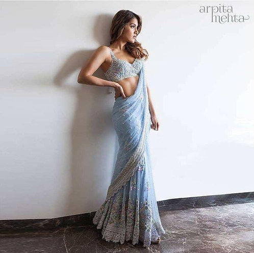 Georgette Heavy  Embroidery Saree