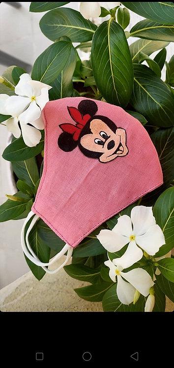Designer mask pink mickey