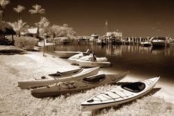 Kayaks at Tween Waters