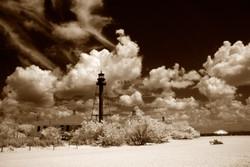 Lighthouse with Umbrella
