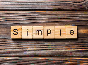 simple word written on wood block. simpl