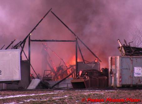 Bygningsbrand i Krømlinge ved Næstved