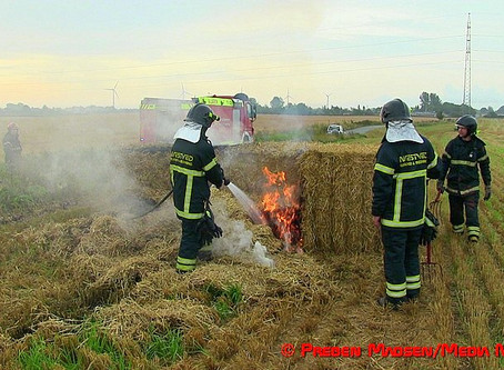 Mystisk brand i halmballer ved Fodby