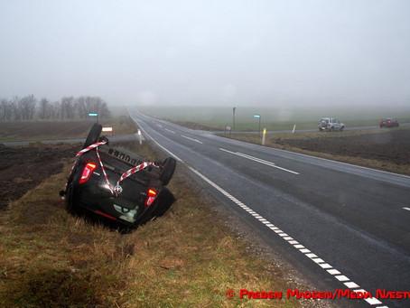 Så skete det igen: Nyt uheld i dødskrydset ved Fuglebjerg