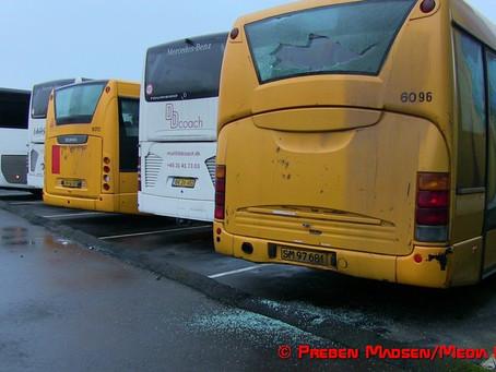 Hærværk på 7 busser i Næstved