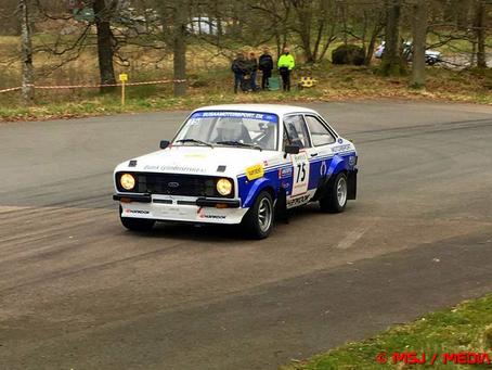 Lokale Rally teams til stort rallysprint i Sverige.