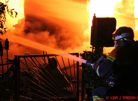 Voldsom brand i hus natten til onsdag