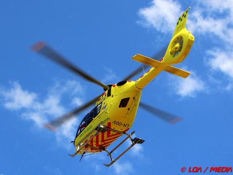 Ældre kvinde fløjet til behandling efter færdselsuheld