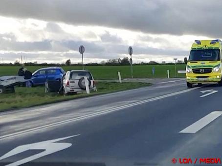 Færdselsuheld på Rute 154 Stevnsvej ved Faxe