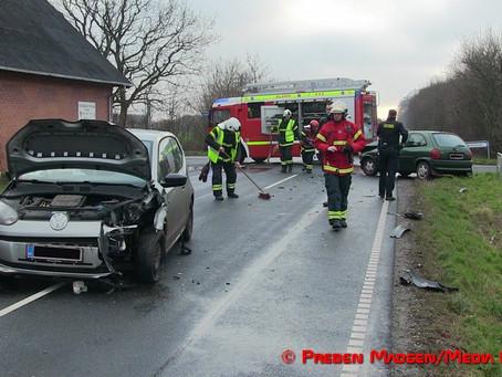 To biler i uheld ved Fuglebjerg