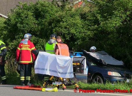 Solo-uheld på Skælskørvej ved Menstrup