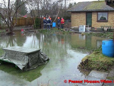 Regn- og smeltevand presser på ejendom i Faxe