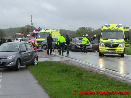 Uopmærksomhed ødelagde 3 biler i Næstved