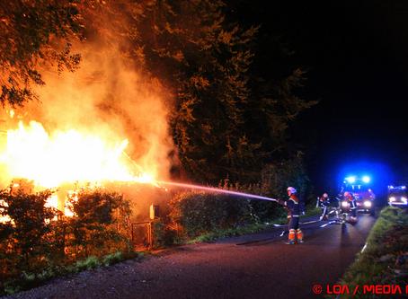 Stråtægt hus ved Tappernøje nedbrændte onsdag aften