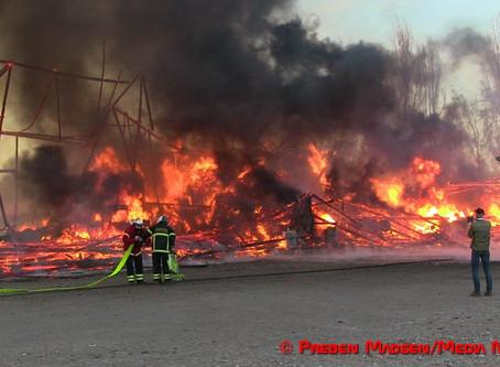 Storbrand i Spjellerup ved Næstved