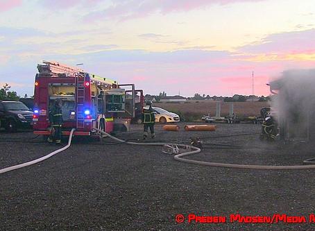 Autoværksted udbrændte i Ladby ved Næstved