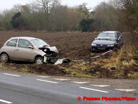 Nyt uheld i farligt vejkryds ved Fuglebjerg