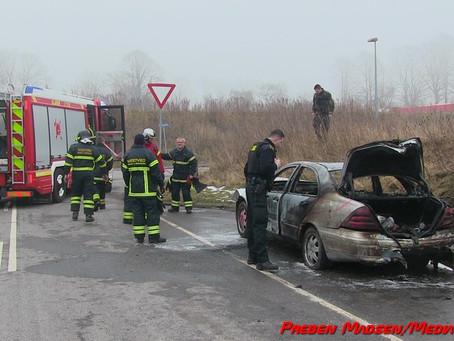 Mystisk bilbrand i Herlufmagle