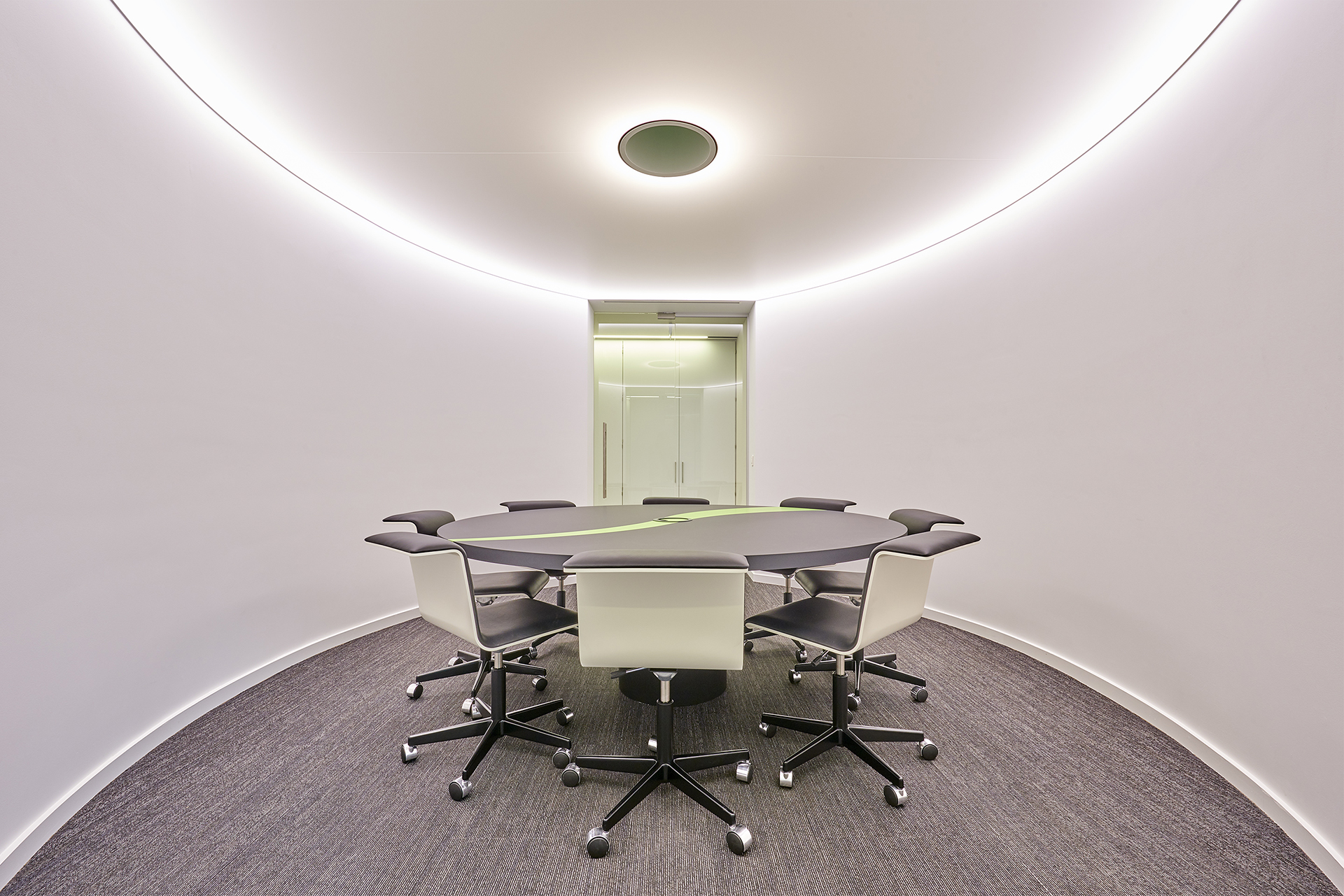 vergaderzaal, conference room, oval room