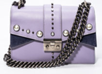 B.Pearl Small Lavender Leather Purse