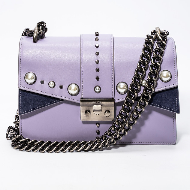 B.Pearl Small Lavender Leather Purse, JK-BP2688-2