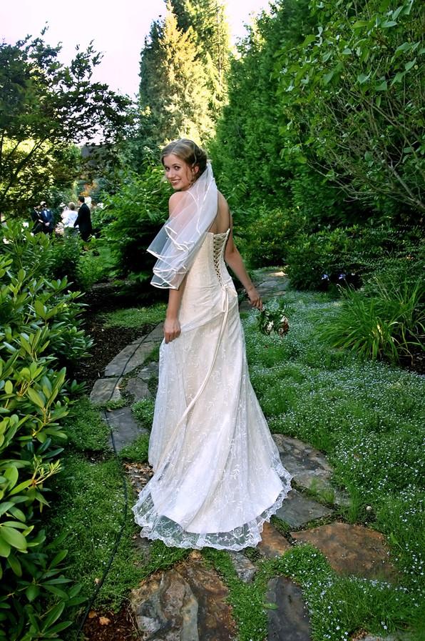 Bride In Garden San Diego Wedding Photographer