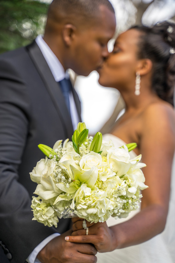 Wedding Bouquet and a kiss for luck
