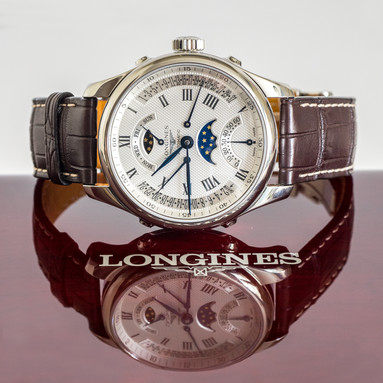 Product photography longines starwatch reflection