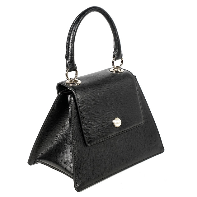 Black Modern Pearl Handbag
