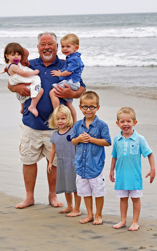 Family Vacation Beach Portrait, Mission Bay, San Diego