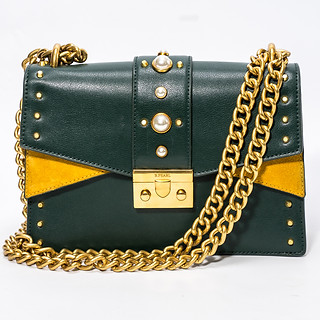 B.Pearl Olive Green Leather Purse, JK-BP2677-2