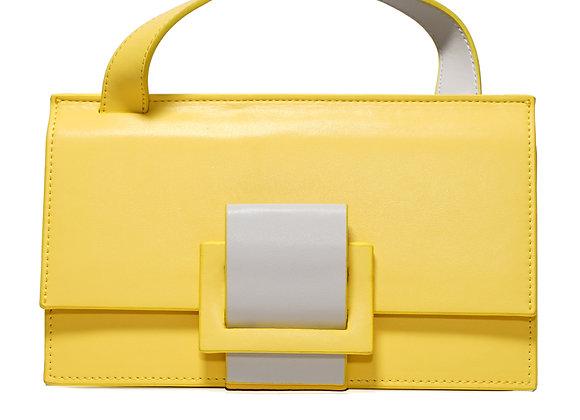 B.Pearl Modern Yellow Leather Fashion Purse