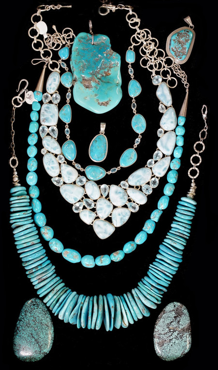 Product Photography, Jewelry, Turquoise Neclace Sets, San Diego