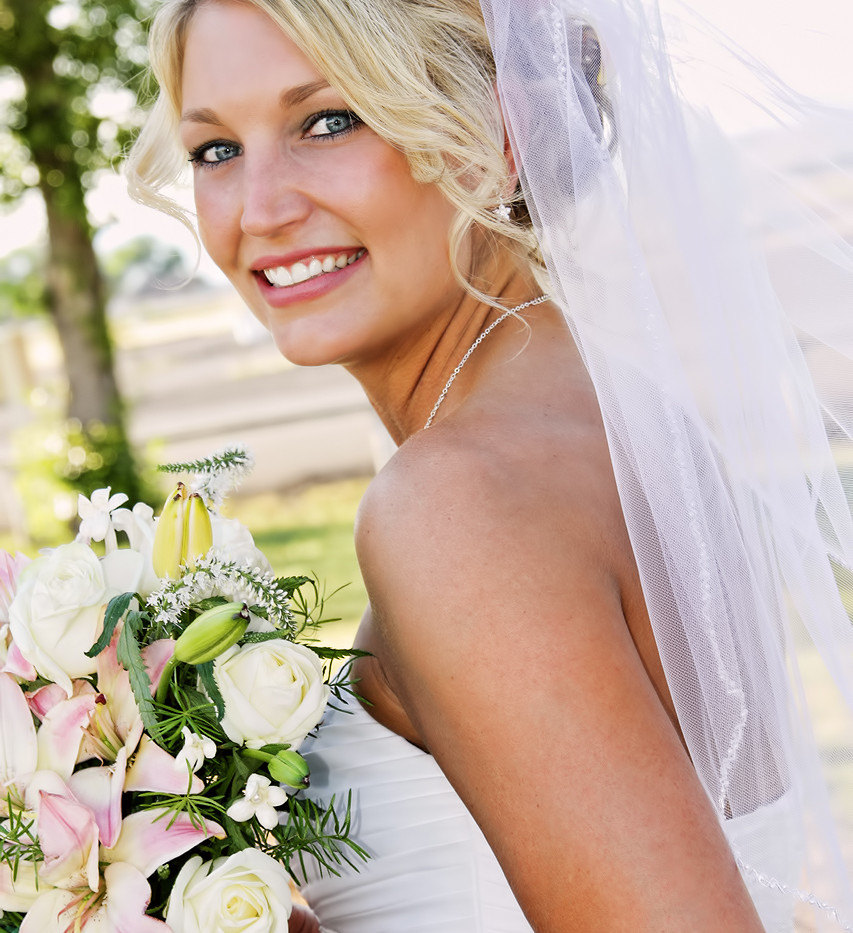 Blond Bride, Wedding Portrait San Diego
